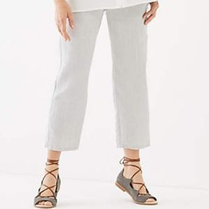 J. Jill Everyday linen crops in zinc grey
